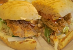 vegan fried chick'n sandwich - photo courtesy of The Harrises of Chicago