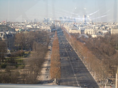 view from roue de paris | avenue des champs-élysées | paris | photo courtesy of The Harrises of Chicago