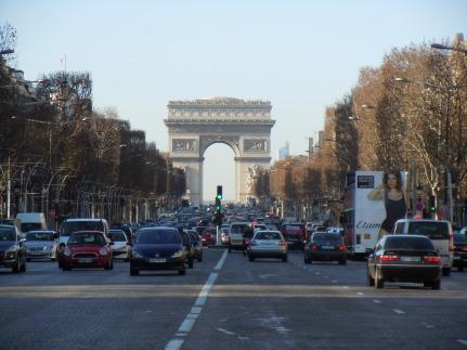 avenue des champs-élysées | arc de triomphe | photo courtesy of The Harrises of Chicago