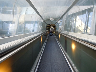 elevated travelator | airport | paris | photo courtesy of The Harrises of Chicago
